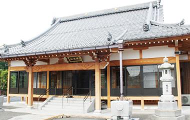 新しくなった淨福寺本堂。